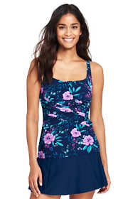 Women's Shaping Scoopneck Tankini Top with Tummy Control