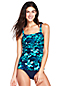 Women's Shape & Enhance Orchid Print Tankini Top