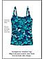 Women's Shape & Enhance Orchid Print Tankini Top