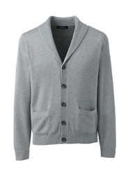 Men Big Cotton Modal Shawl Collar Cardigan