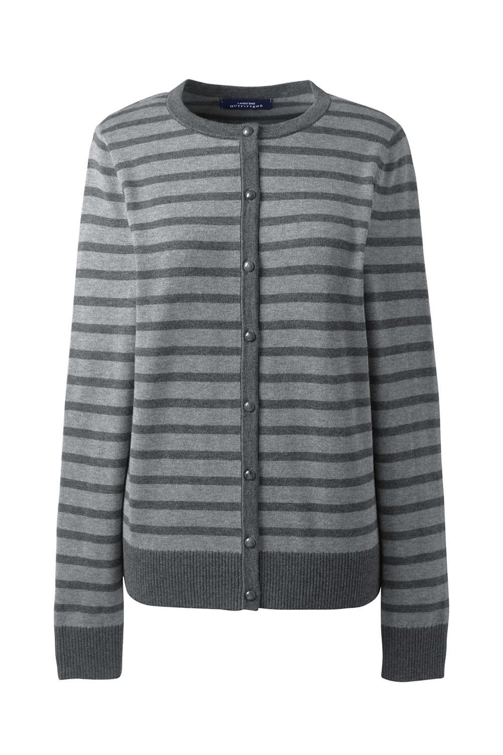 efa6d1017a Women s Plus Size Cotton Modal Stripe Cardigan from Lands  End