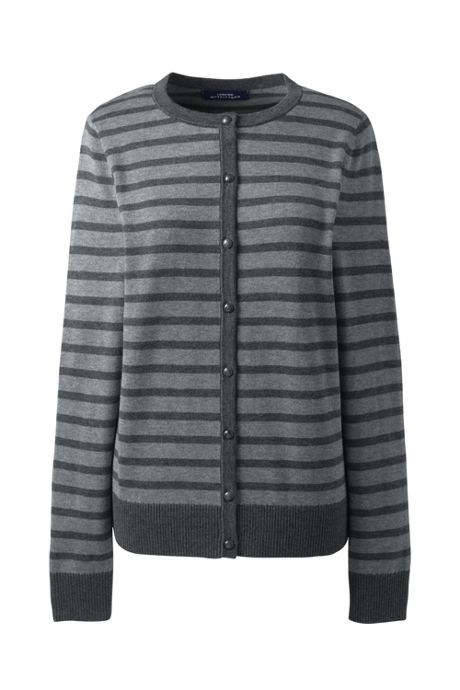 Women's Cotton Modal Stripe Cardigan