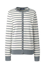Women's Plus Size Cotton Modal Stripe Cardigan
