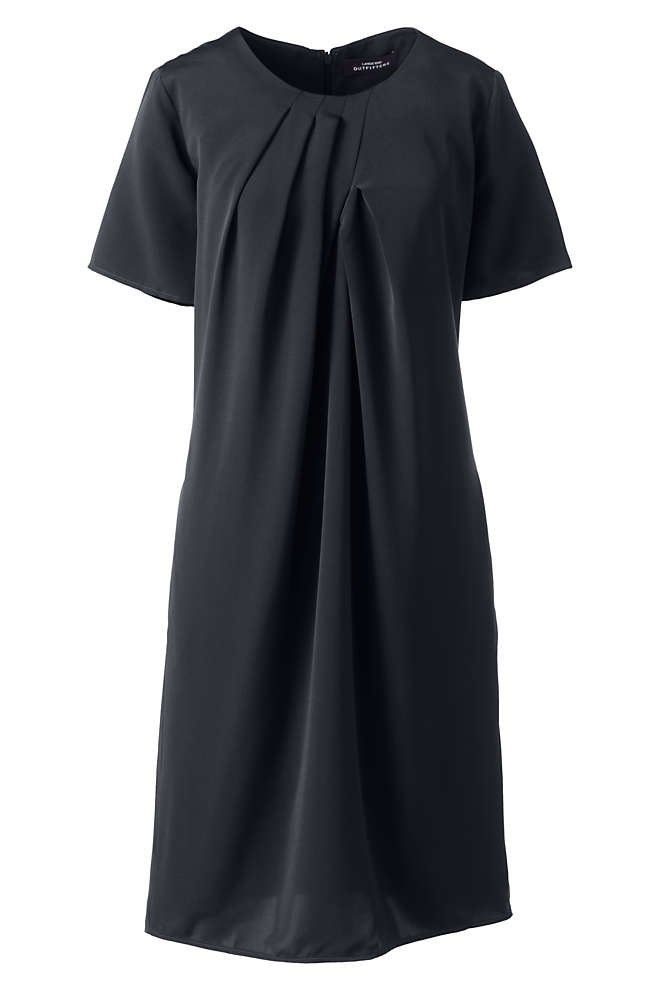 Women's Pleat Neck Dress, Front