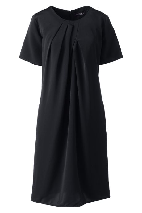 Women's Plus Size Pleat Neck Dress