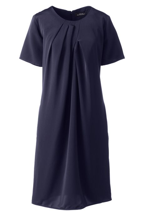 Women's Pleat Neck Dress