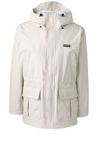 Buy Lands\' End Men\'s Squall Lightweight Waterproof Parka - 34-36, Tan at £56.00 from Land's End