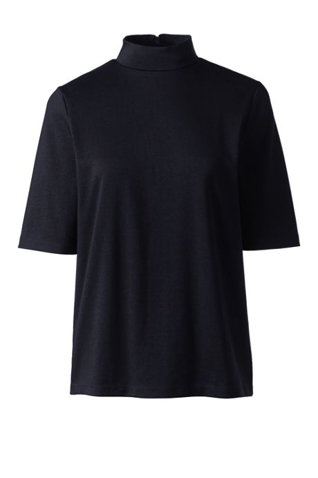 Women's Half Sleeve Mock Neck Top