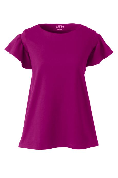 Women's Structured Ruffle Tee
