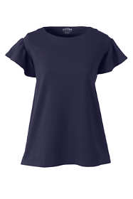 Women's Plus Size Structured Ruffle Tee