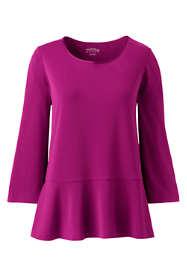 Women's Plus Size Crepe Jersey Ruffle Hem Top
