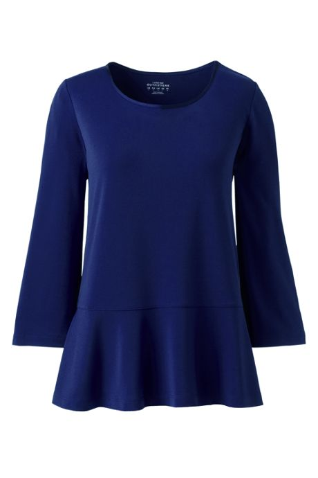 Women's 3/4 Sleeve Ruffle Top