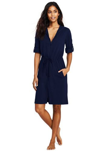 Women s Hooded Roll Sleeve Beach Cover-up  875092317