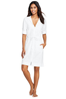Women's Hooded Roll Sleeve Beach Cover-up