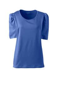 Women's Plus Size Supima Micro Modal Pleat Shoulder Tee