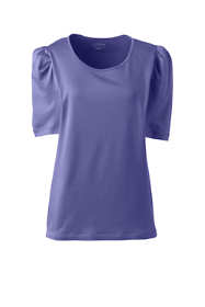 Women's Plus Size Supima Micro Modal Pleat Shoulder Tee