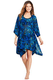 Women's Poly Crepe Dolman Caftan Cover-up