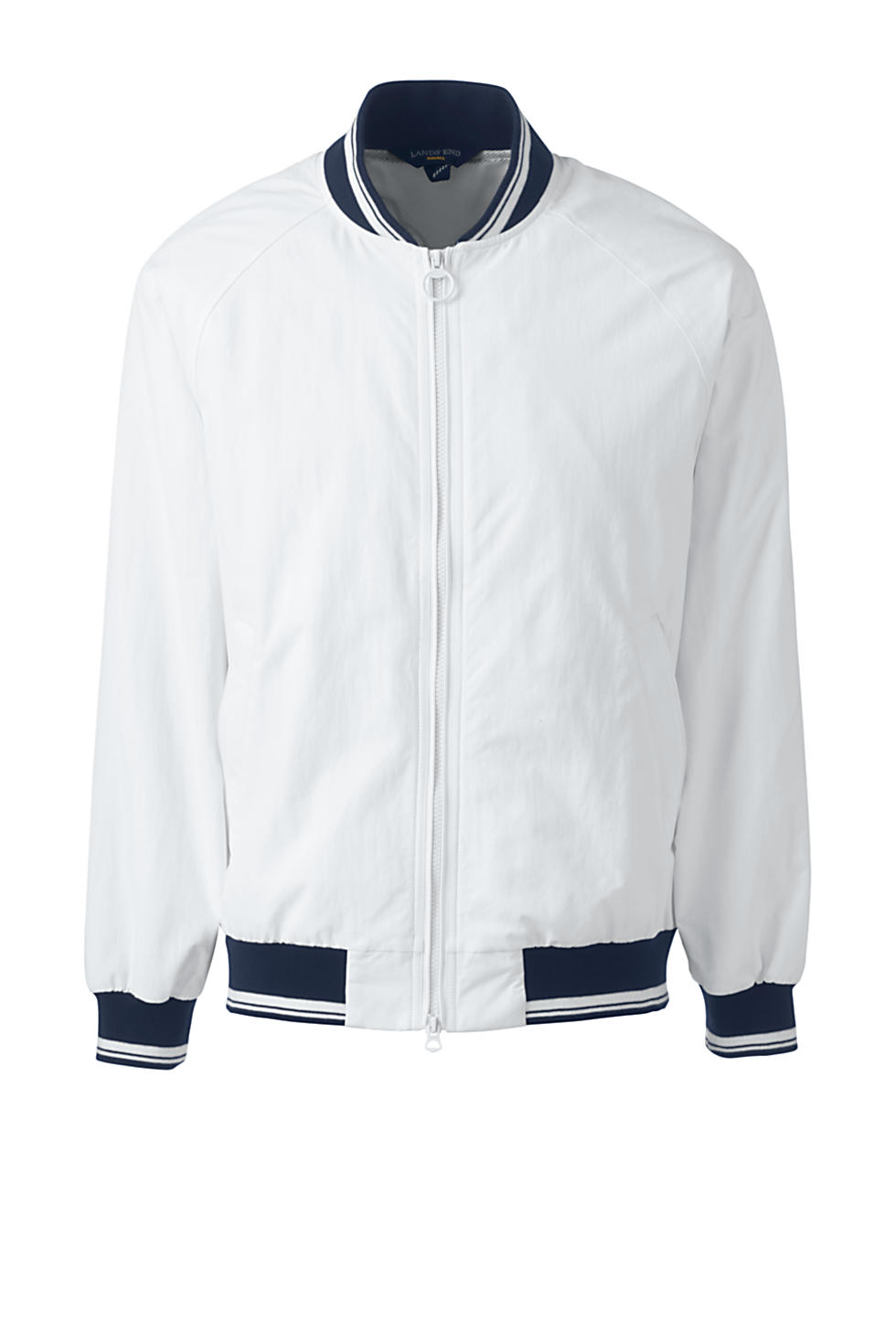 Lands' End Men's Squall Varsity Jacket (White)