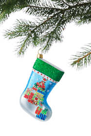 Mini Glass Christmas Stocking Ornament