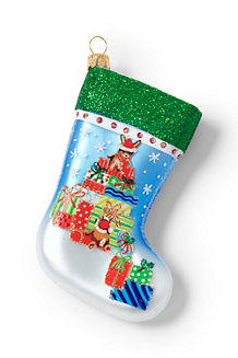 Les Petits Chaussons de Noël en Verre à Accrocher