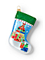 Individual Glass Mini Stocking Ornament