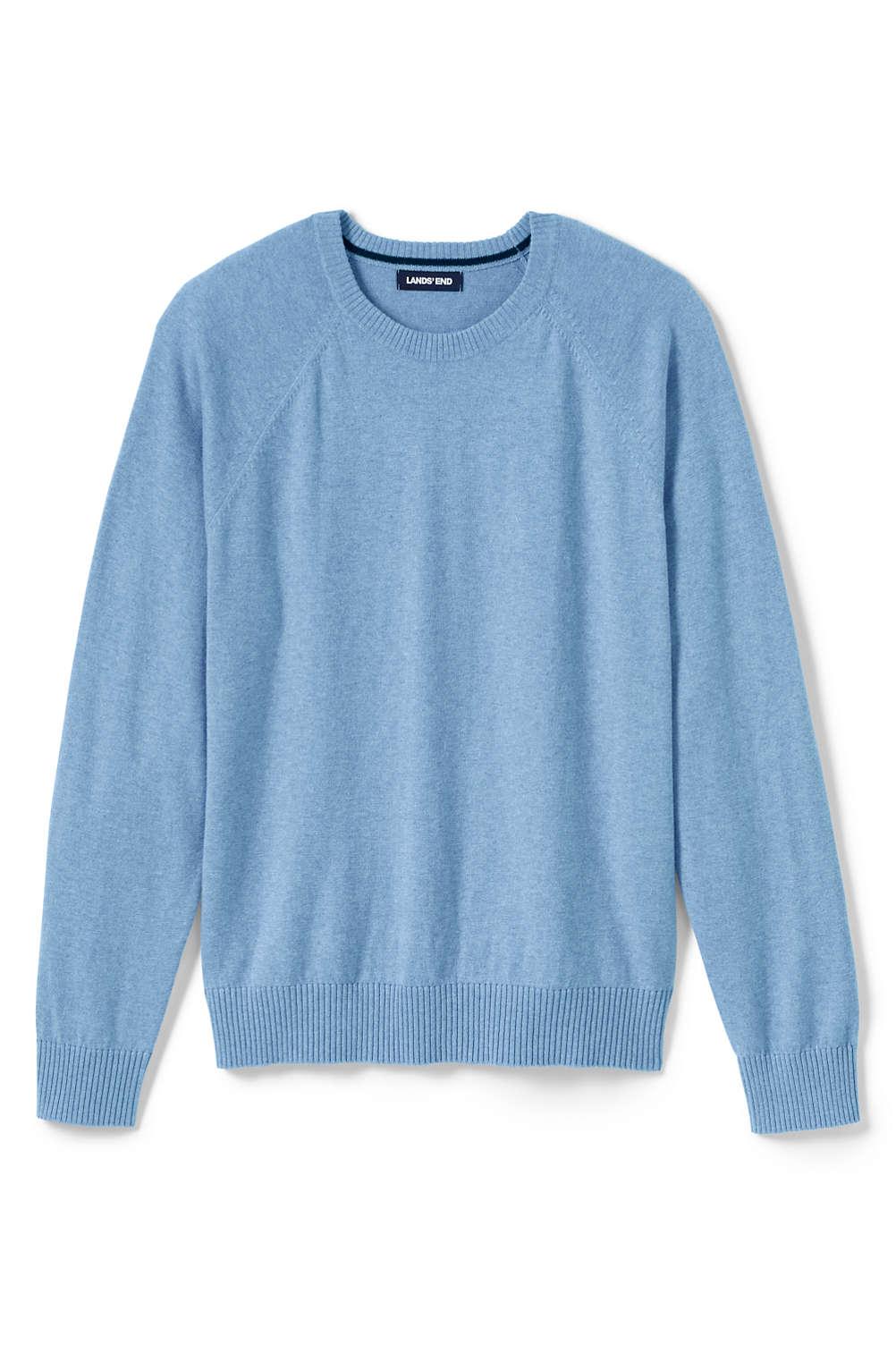 146338498c64 Men s Cotton Cashmere Crewneck Sweater from Lands  End