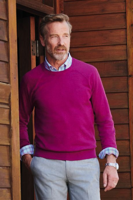 Men's Tall Cotton Cashmere Crewneck Sweater