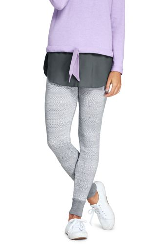 Women's Merino Fair Isle Leggings from Lands' End