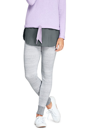 e3b8e2a152 Gemusterte Feinstrick-Leggings aus Merino für Damen | Lands' End