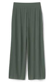Women's Matte Jersey Wide Leg Crop Pants