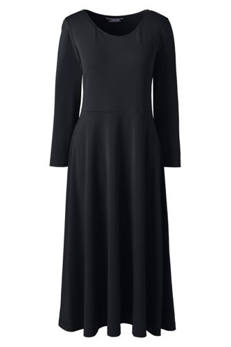 Women's Flared Dress in Matte Jersey