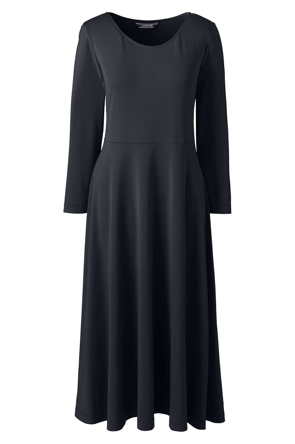 Women S Plus Size 3 4 Sleeve Matte Jersey Aline Dress