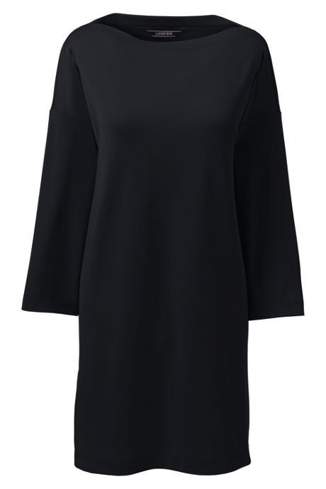 Women's Plus Size 3/4 Sleeve Matte Jersey Tunic