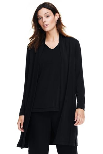 Le Cardigan Long Ouvert Fluide Stretch, Femme Stature Standard