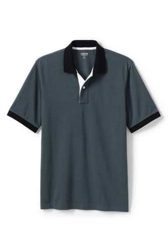 Men's Colourblocked Piqué Polo Shirt