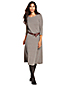 La Robe Pull Longue Évasée Laine Mérinos et Soie, Femme Stature Standard