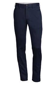 Men's Slim Fit Plain Front No Iron Chino Pants