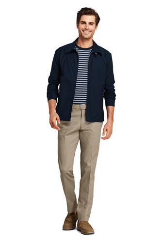 School Uniform Men's Slim Fit Plain Front No Iron Chino Pants