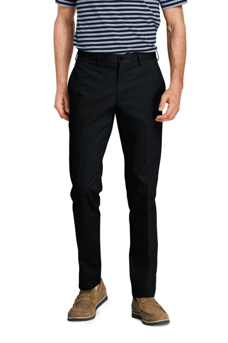 Men's Slim Fit Plain Front No Iron Chino Pants
