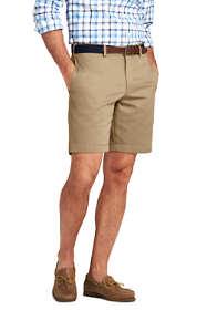 "Men's Classic Fit Plain Front 9"" No Iron Chino Shorts"