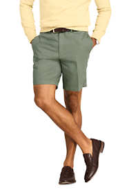 "Men's 9"" Plain Front Classic Fit No Iron Chino Shorts"