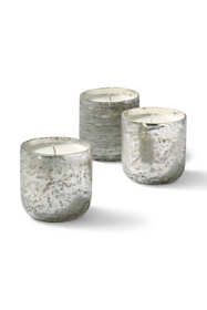 Balsam and Cedar Mini Luxe Sanded Mercury Glass Candles (Set of 3)