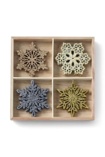 Wooden Snowflakes (Set of 12)