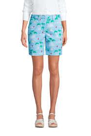 "Women's Petite Mid Rise 7"" Chino Shorts"
