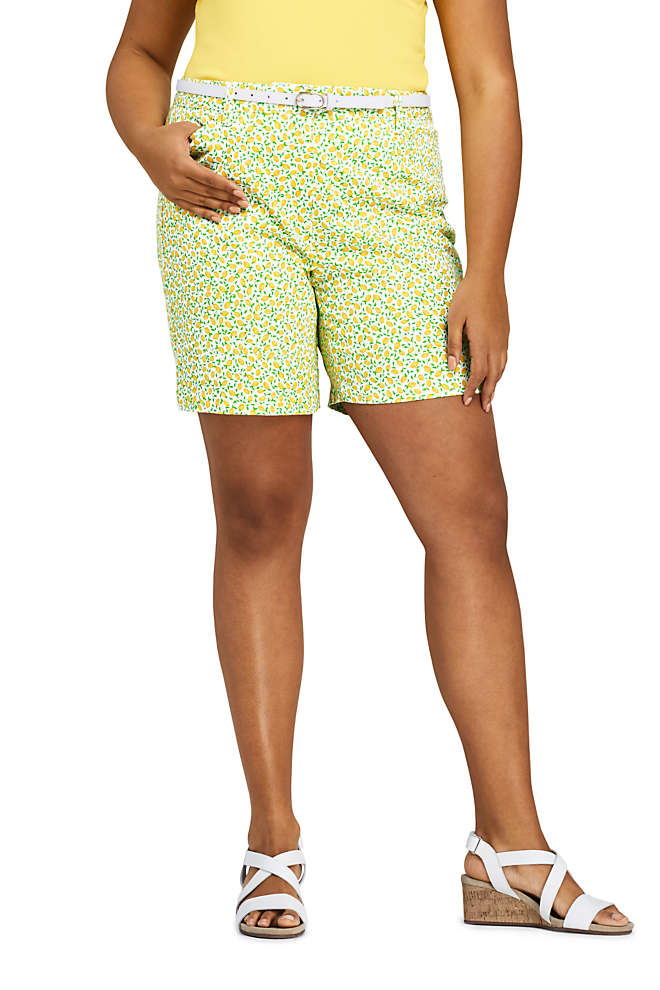 "Women's Plus Size Mid Rise 7"" Chino Shorts, Front"