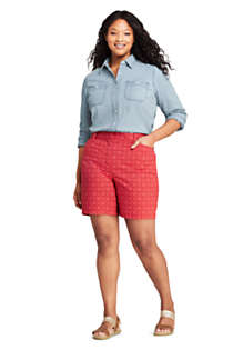"Women's Plus Size Mid Rise 7"" Chino Shorts, Unknown"