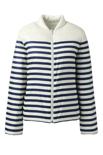 Women's Striped Ultra Light Reversible Down Jacket