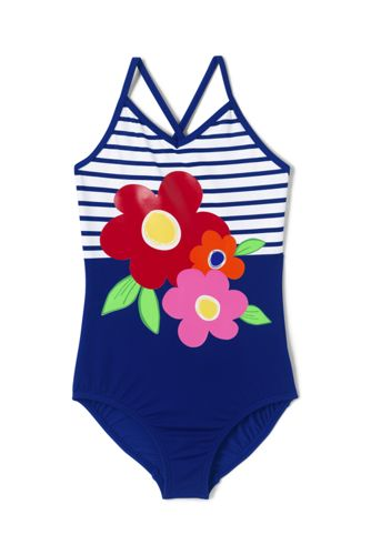 Girls' Graphic Swimsuit