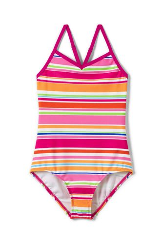 Little Girls' Smart Swim Strappy Patterned Swimsuit