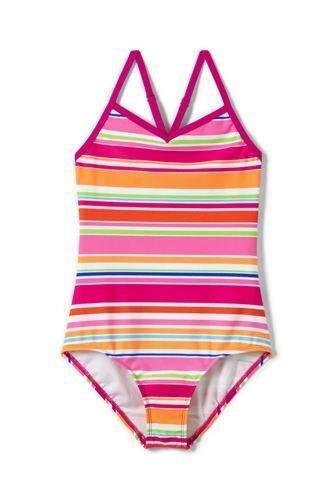 Little Girls' Smart Swim Strappy Patterned Swimsuit
